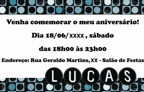 Layout | Convite De Aniversário (Azul)